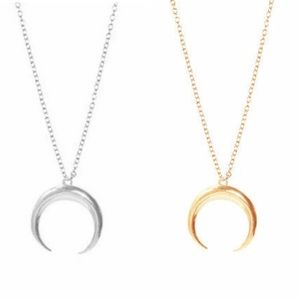 Jewelry - (FINAL) Silver & Gold Crescent Moon Necklaces!!
